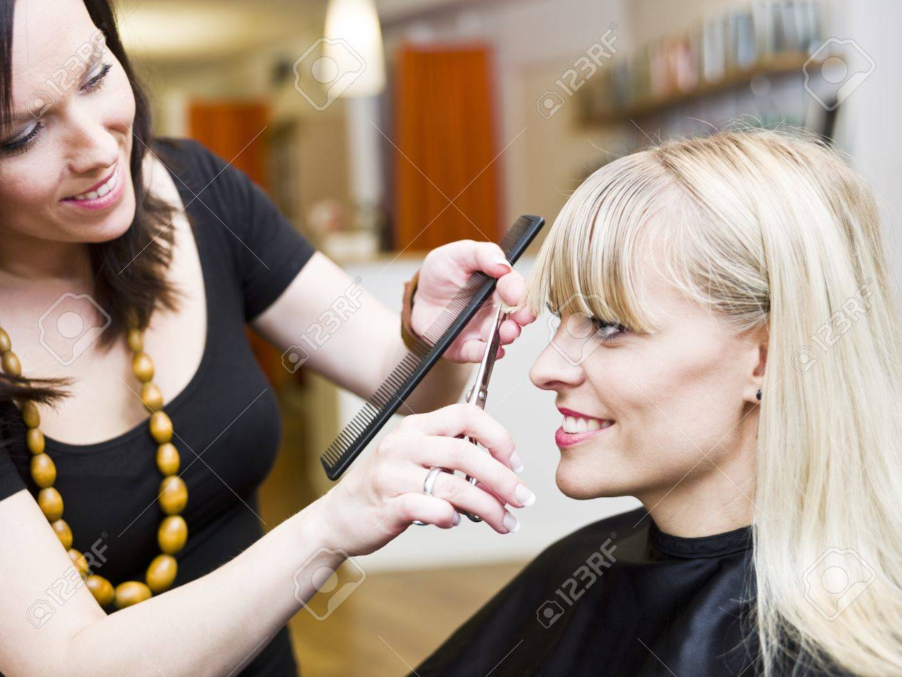 Blond woman at the Hair Salon Stock Photo - 9289565