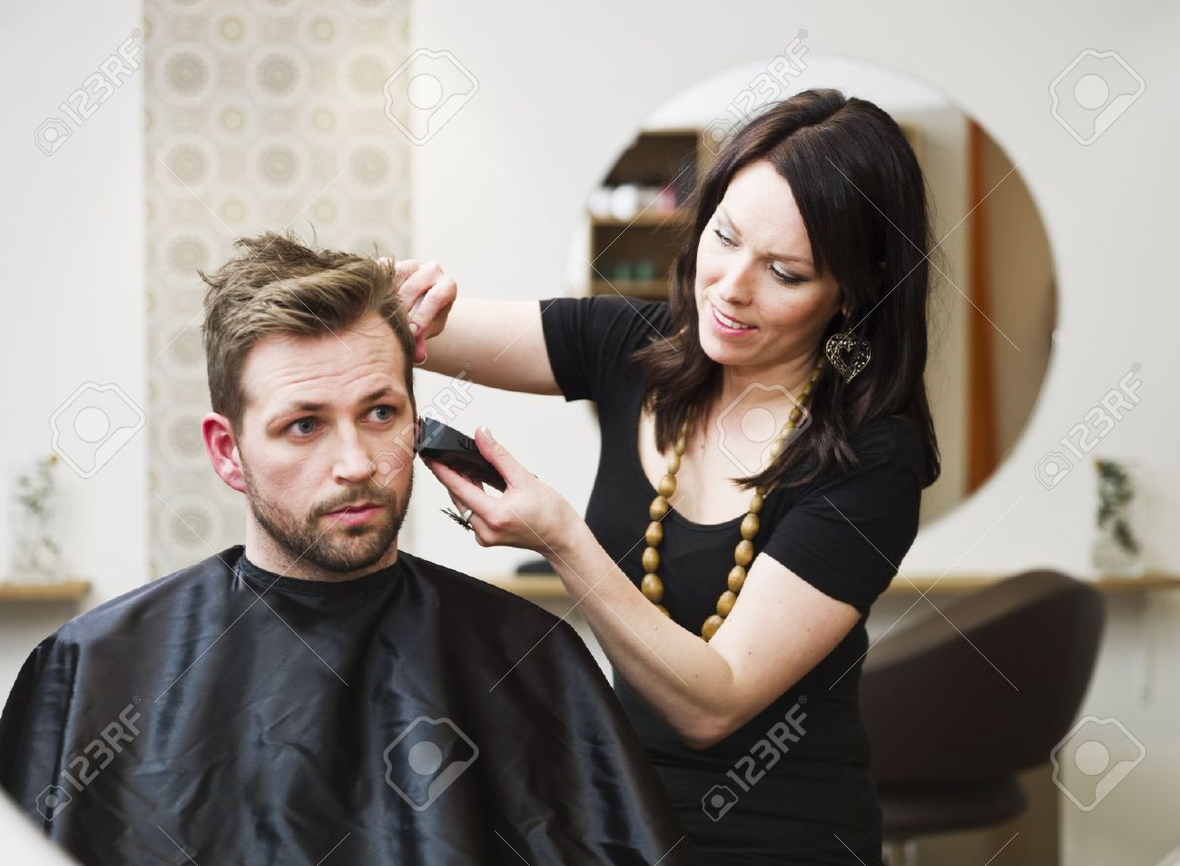 Man at the Hair salon situation Stock Photo - 9287613