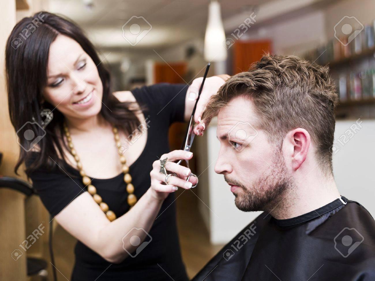 Man at the Hair salon situation Stock Photo - 9287561