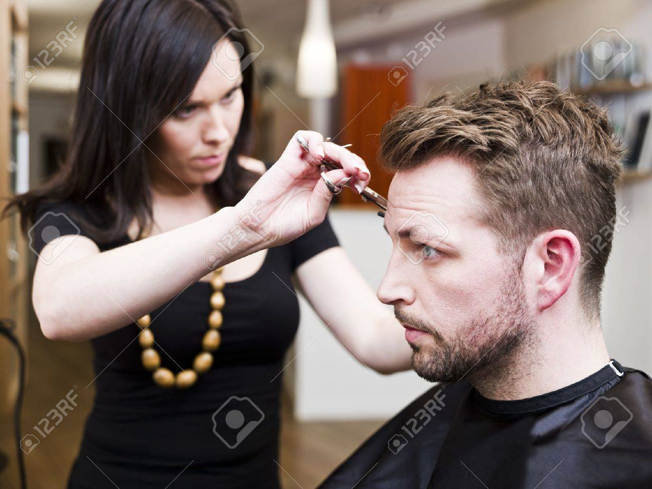 Man at the Hair salon situation Stock Photo - 9289596