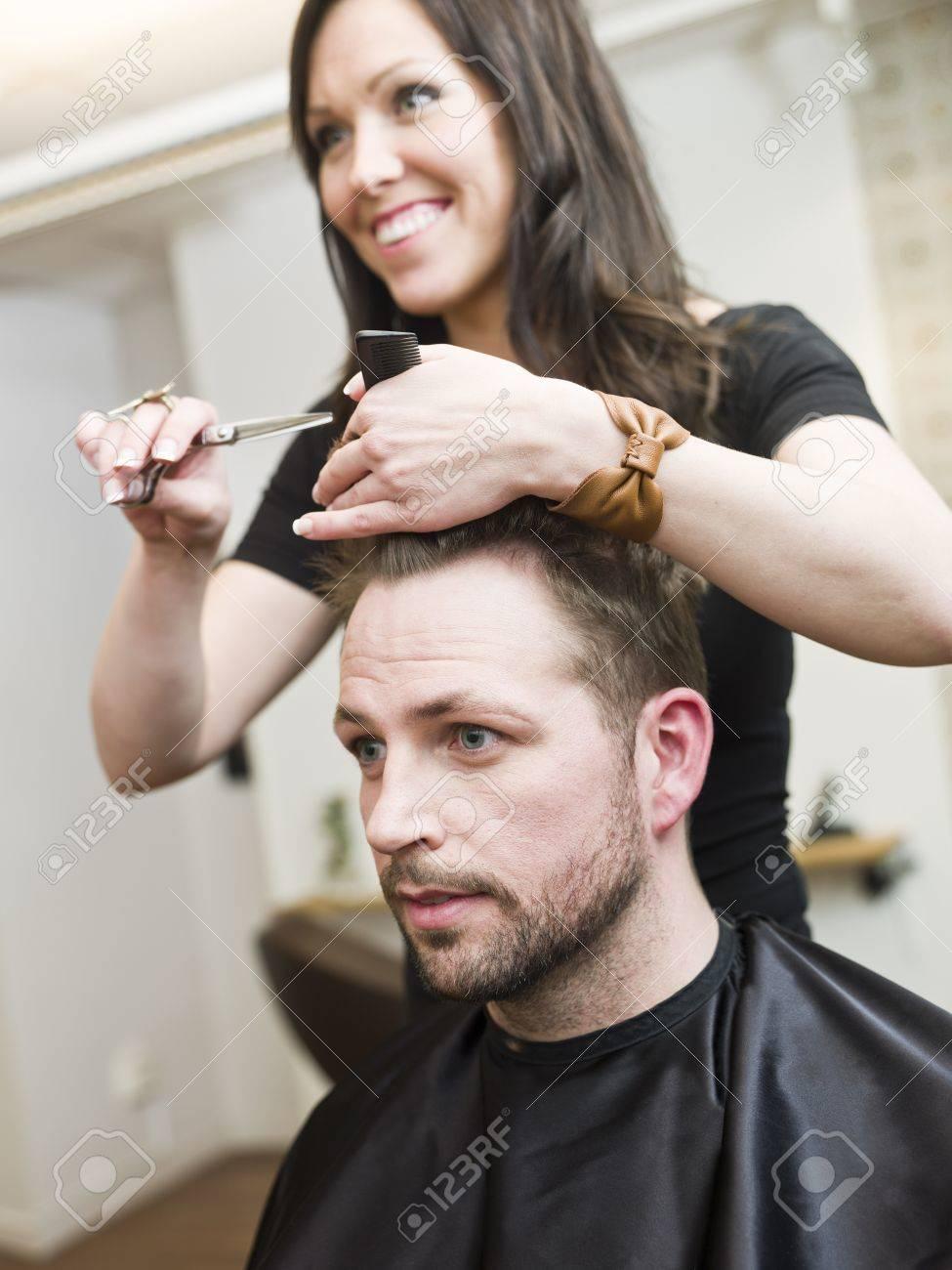 Man at the Hair salon situation Stock Photo - 9289562