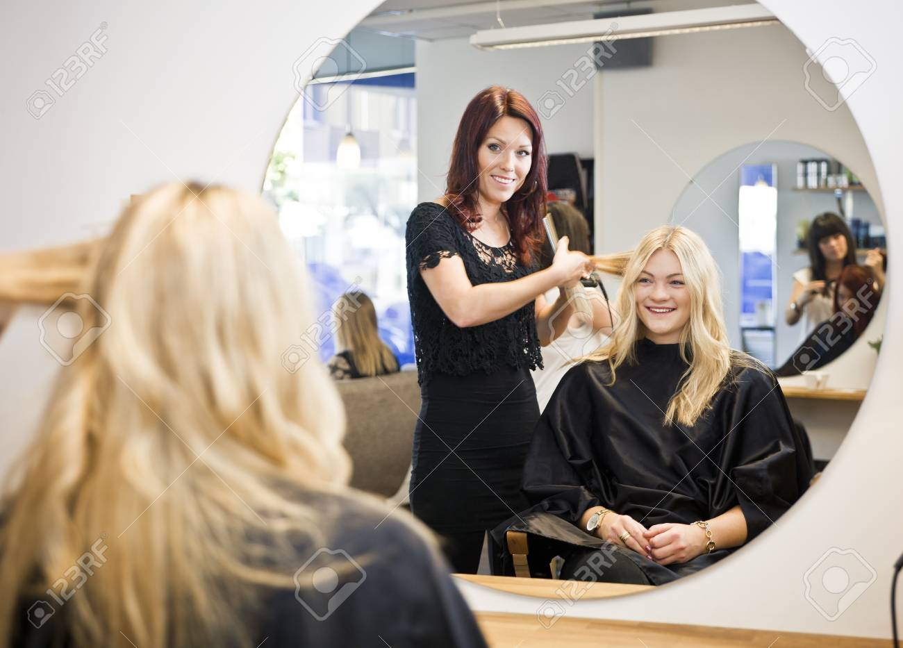 Situation in a Hair Salon Stock Photo - 11223874