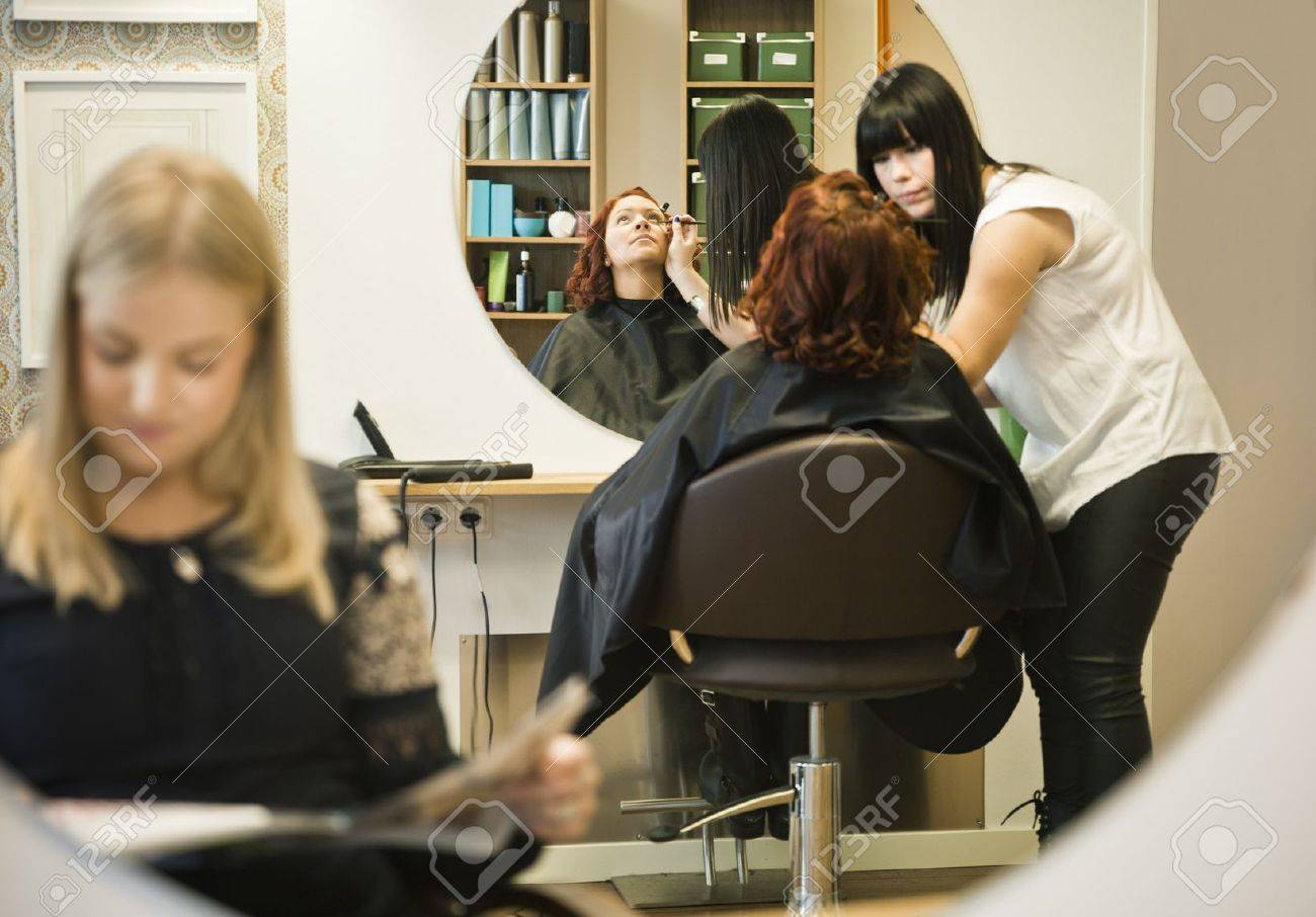 Situation in a Hair salon Stock Photo - 11223857