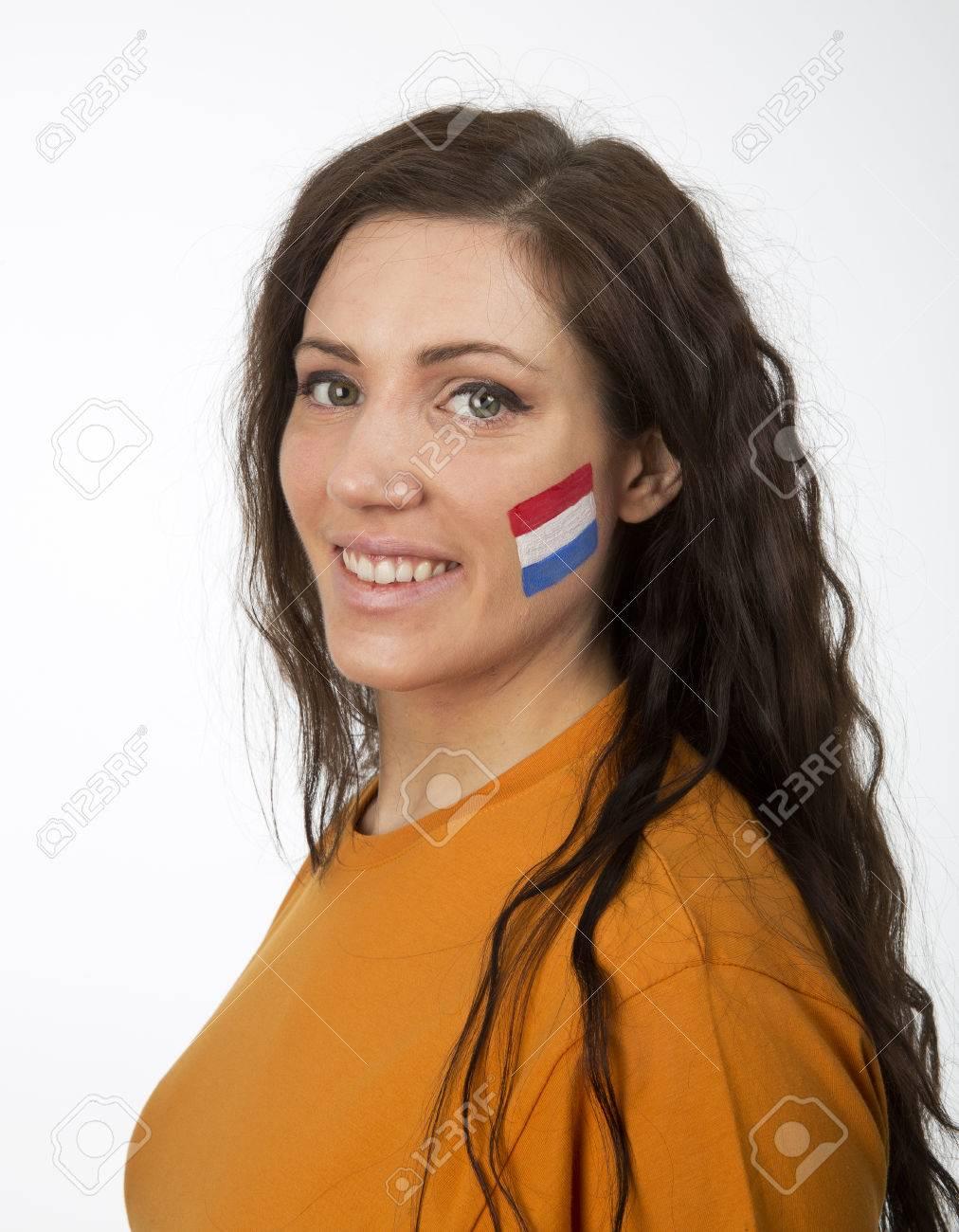 Bezaubernd Gesicht Bemalen Ideen Von Junges Mädchen Mit Der Niederländischen Flagge Im