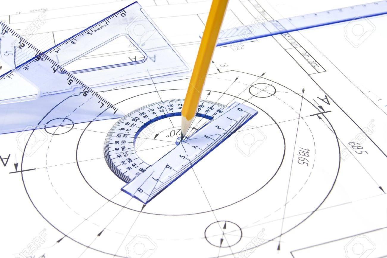 Engineering drawing equipment Stock Photo - 9495390