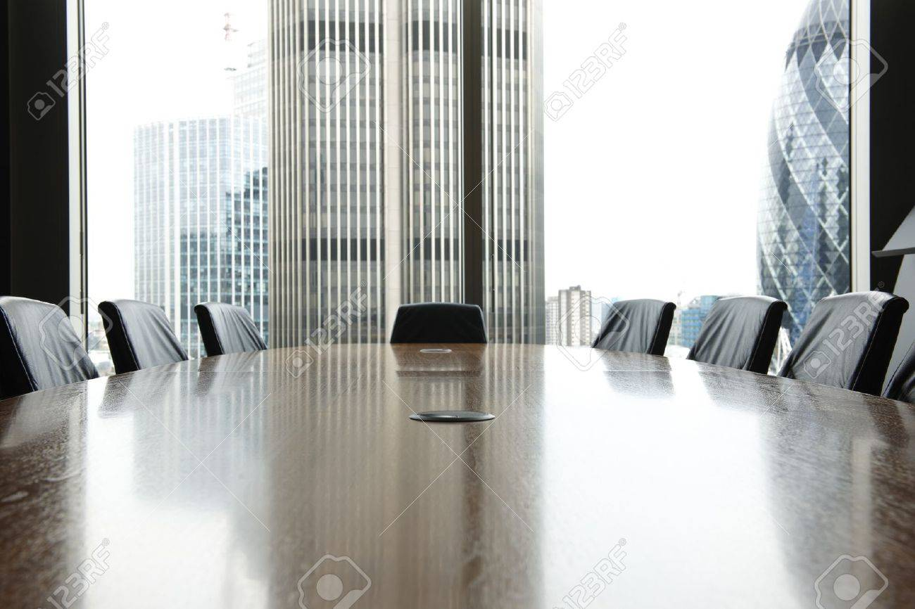 view of boardroom table with chairs and city buildings in background awesome office table top view shutterstock id