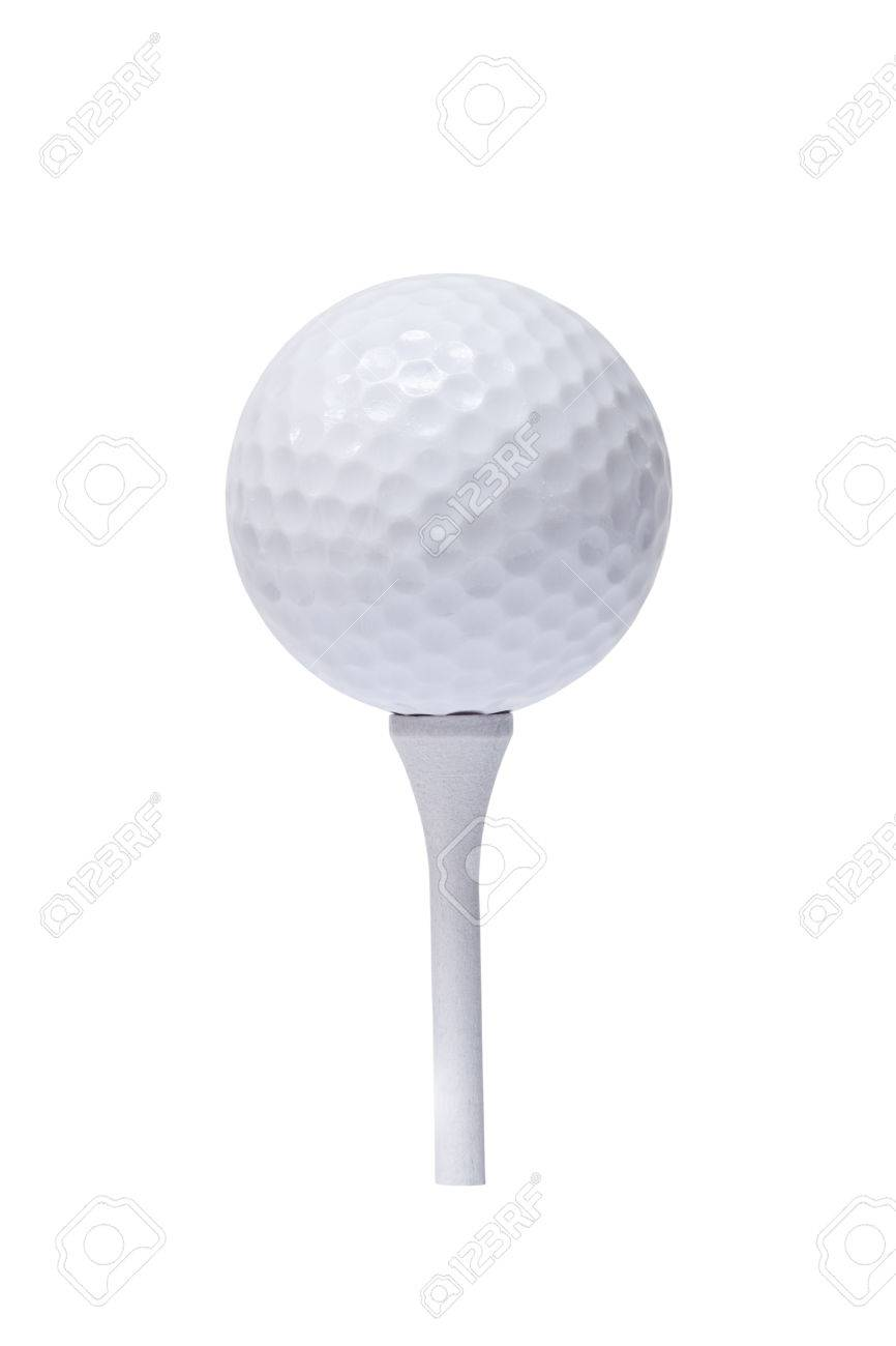 Professional Golf Ball On Tee Against White Background Stock Photo Picture And Royalty Free Image Image 36900608