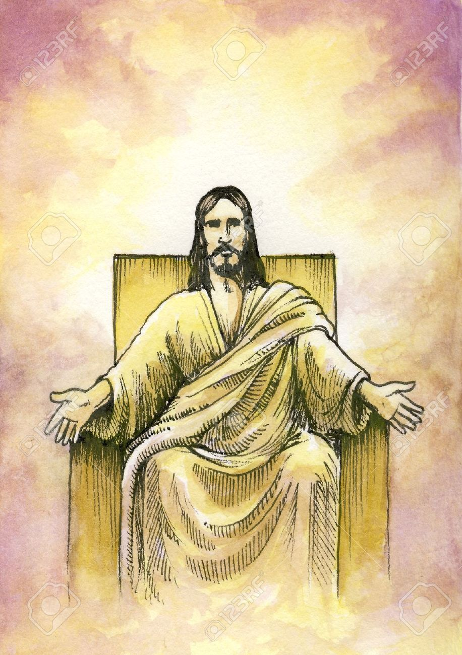 God or jesus seated on throne with open arms stock photo picture god or jesus seated on throne with open arms stock photo 24746996 altavistaventures Choice Image