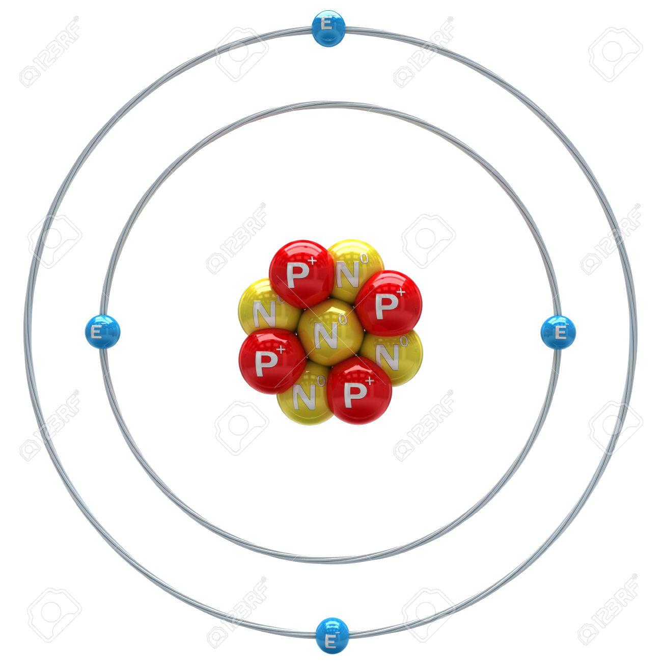 Beryllium Atom Auf Einem Weissen Hintergrund Lizenzfreie Fotos