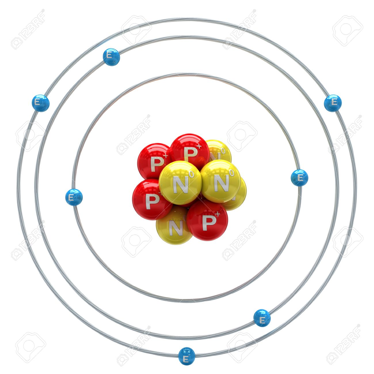 Nitrogen Atom On White Background Stock Photo, Picture And Royalty ...