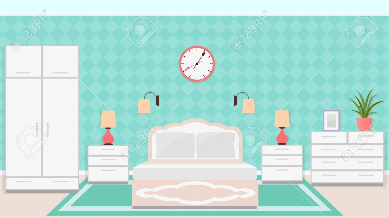 Schlafzimmer Interieur Im Klassischen Stil Mit Möbeln ...