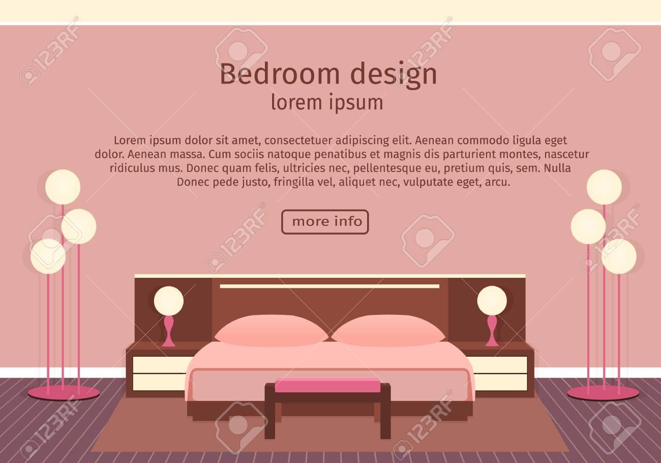 Banniere De Design Web De L Elegance Chambre A Coucher Interieur