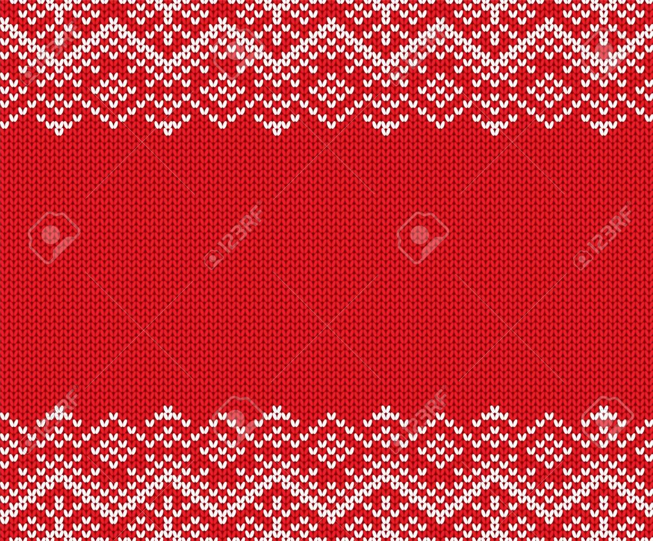 Tejer Navidad Ornamento Geométrico Diseño Con Espacio Vacío Para El ...