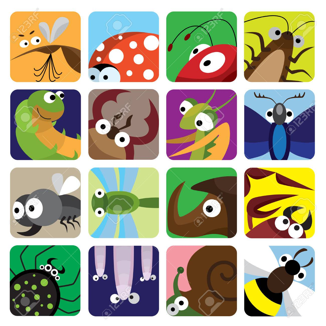 Insect icons set Stock Vector - 7578442