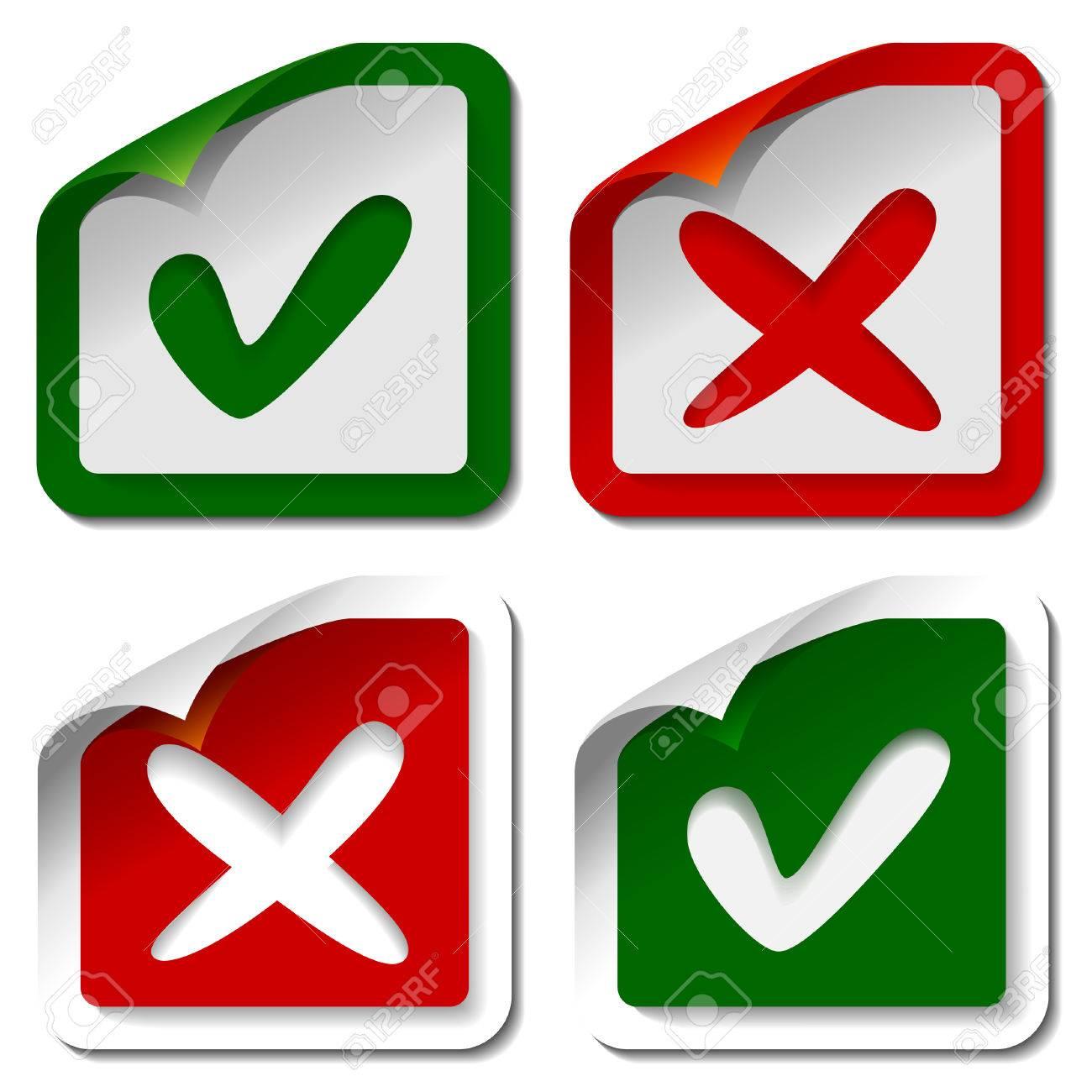 Check mark stickers Stock Vector - 8629960