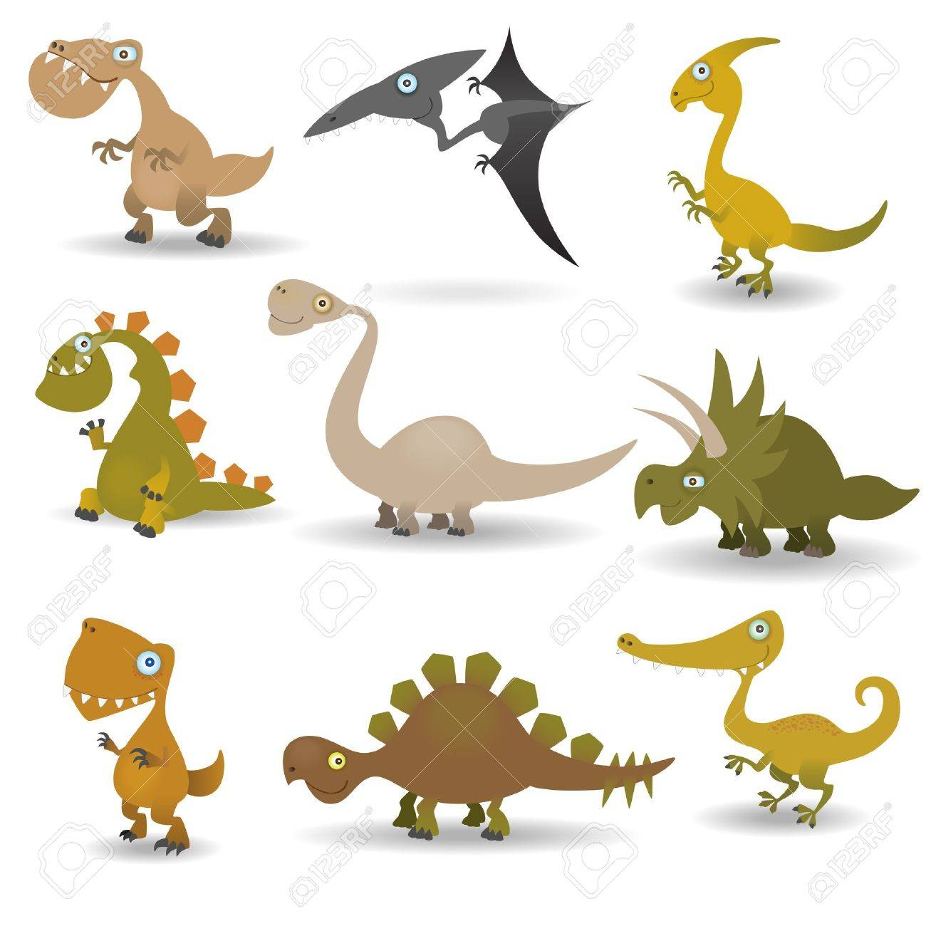 Dinosaurs set Stock Vector - 9717668