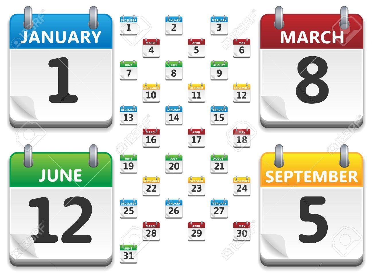 calendar date: Vector calendar