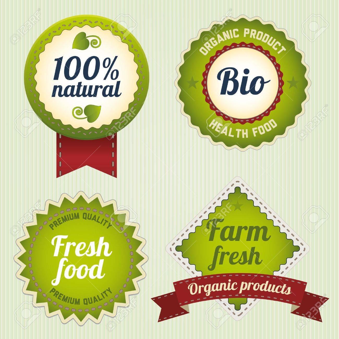 Eco Retro Labels Template Set Vintage Bio Logo Template