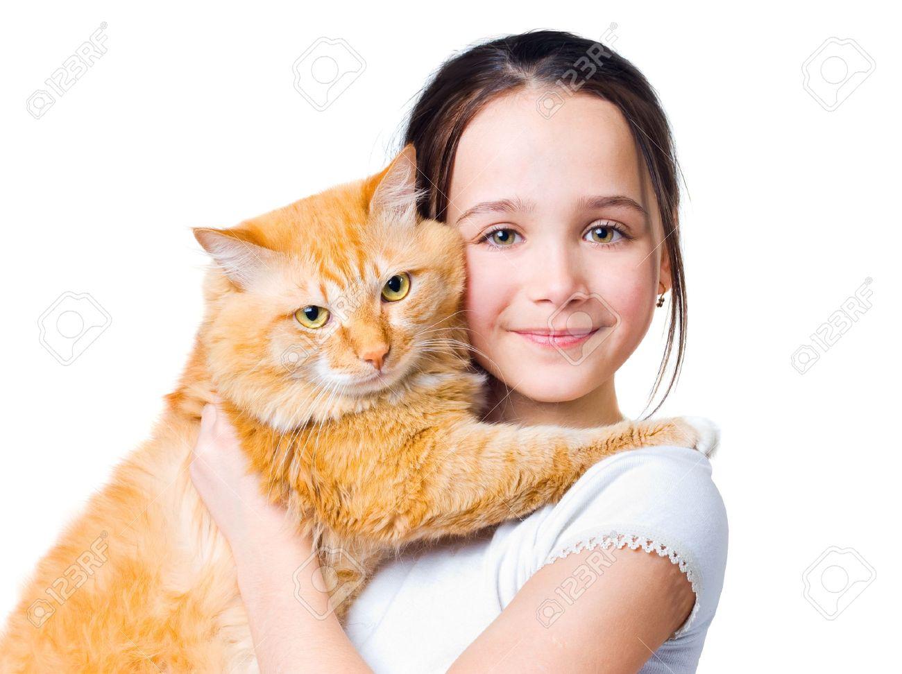 Кот в руках у девушки картинки
