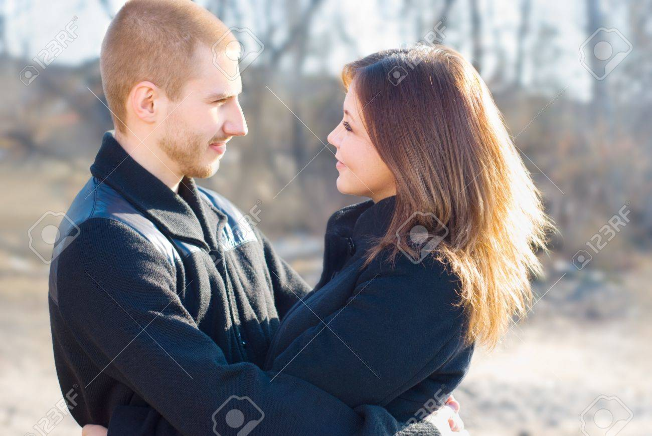 Young couple on a walk Stock Photo - 13057172