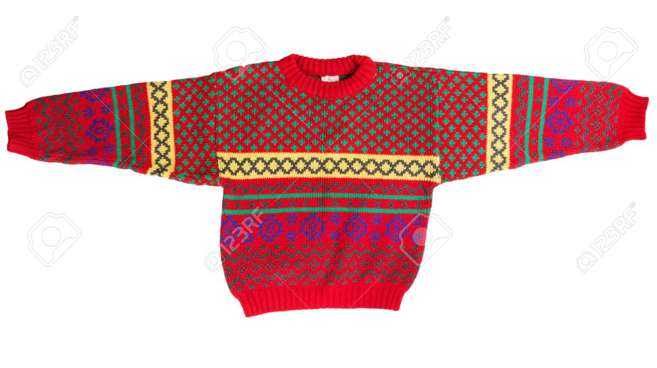 d58c845d1599 Children s Red Sweater Isolated On A White Background Stock Photo ...