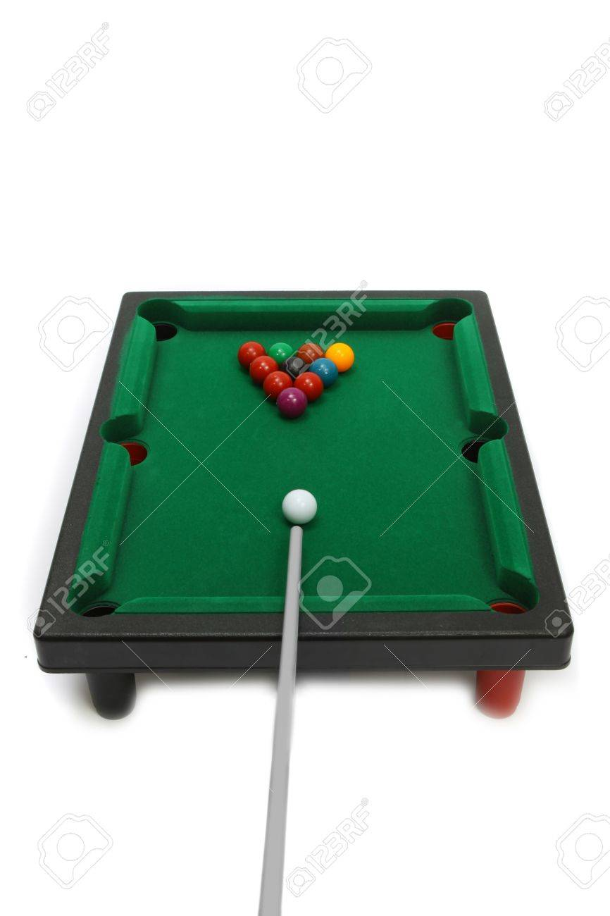 Board game -  billiard snooker. Isolated on white background Stock Photo - 9334165