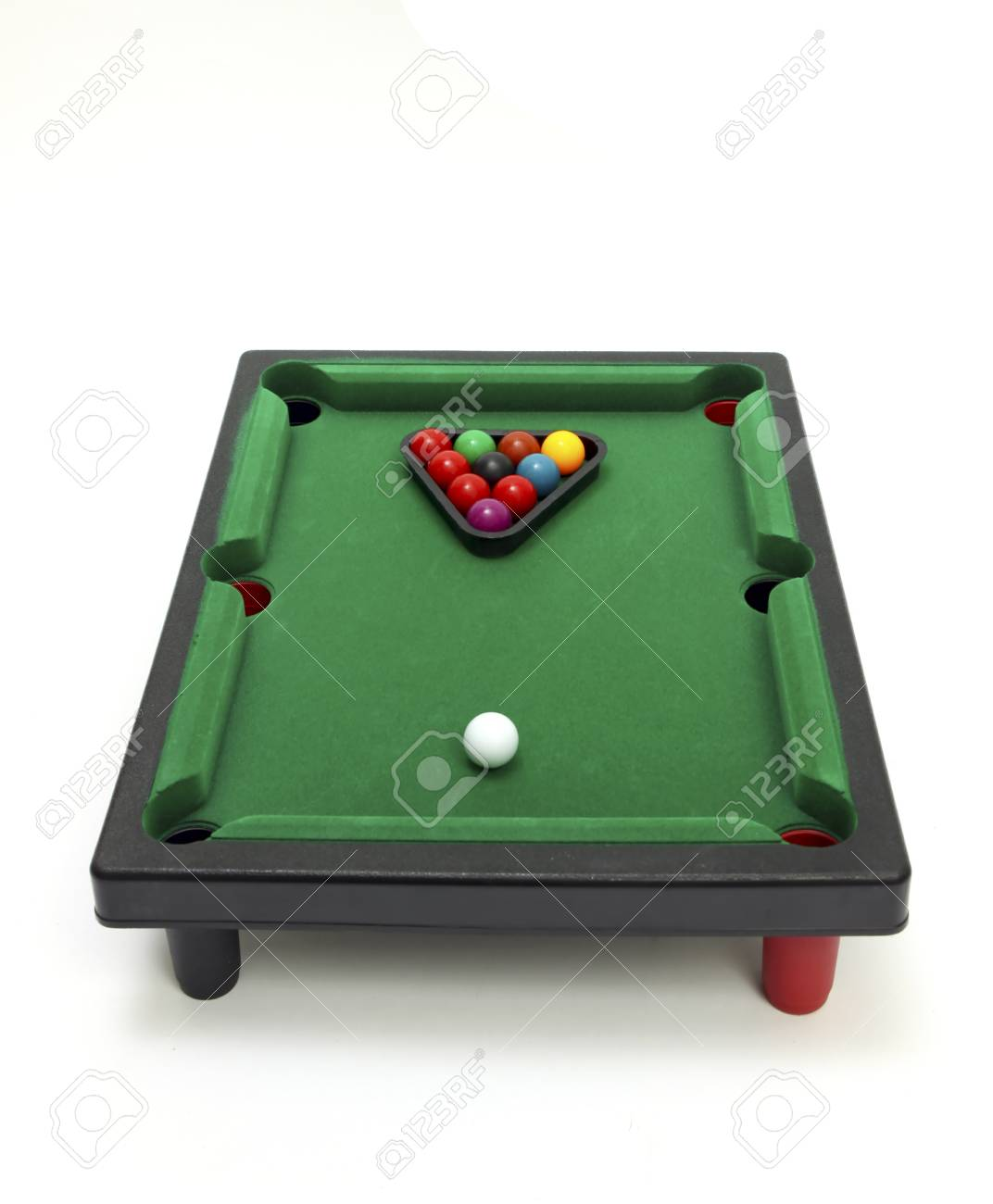 Board game -  billiard snooker. Isolated on white background Stock Photo - 9508091