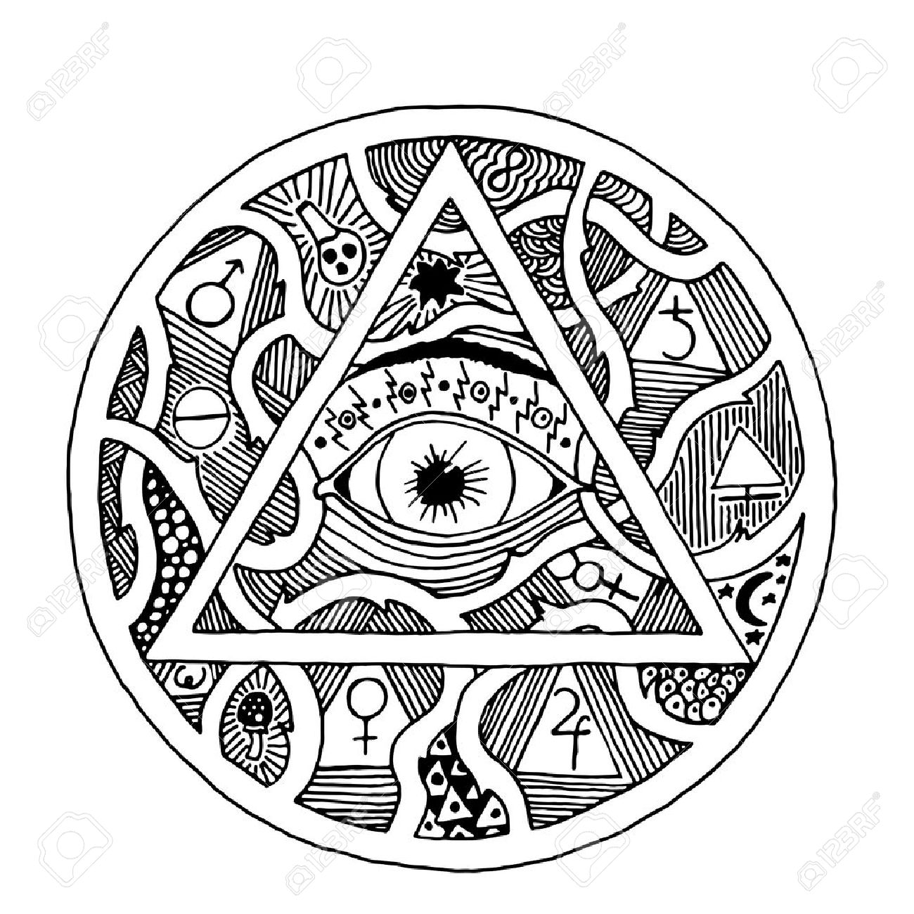 Hand Eye Symbol Images Meaning Of Text Symbols