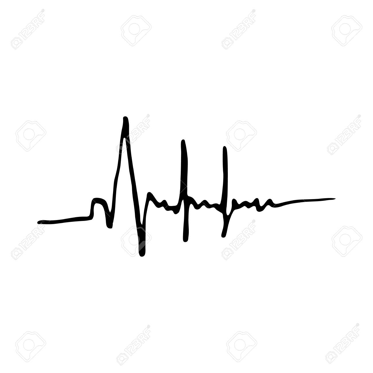 Heartbeat Icon Isolated On White Background In Style Hand Draw Royalty Free Cliparts Vectors And Stock Illustration Image 62058784