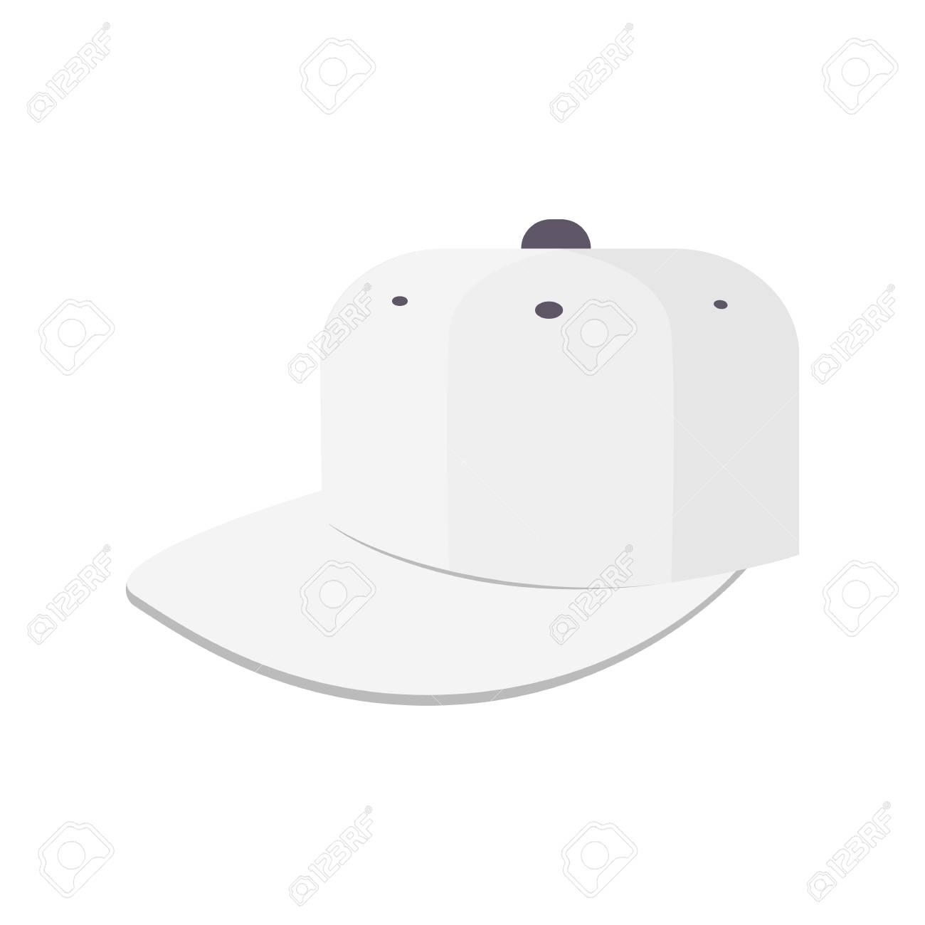 Archivio Fotografico - Icona del cappello da baseball del fumetto isolato su  priorità bassa bianca 3593197e7a29