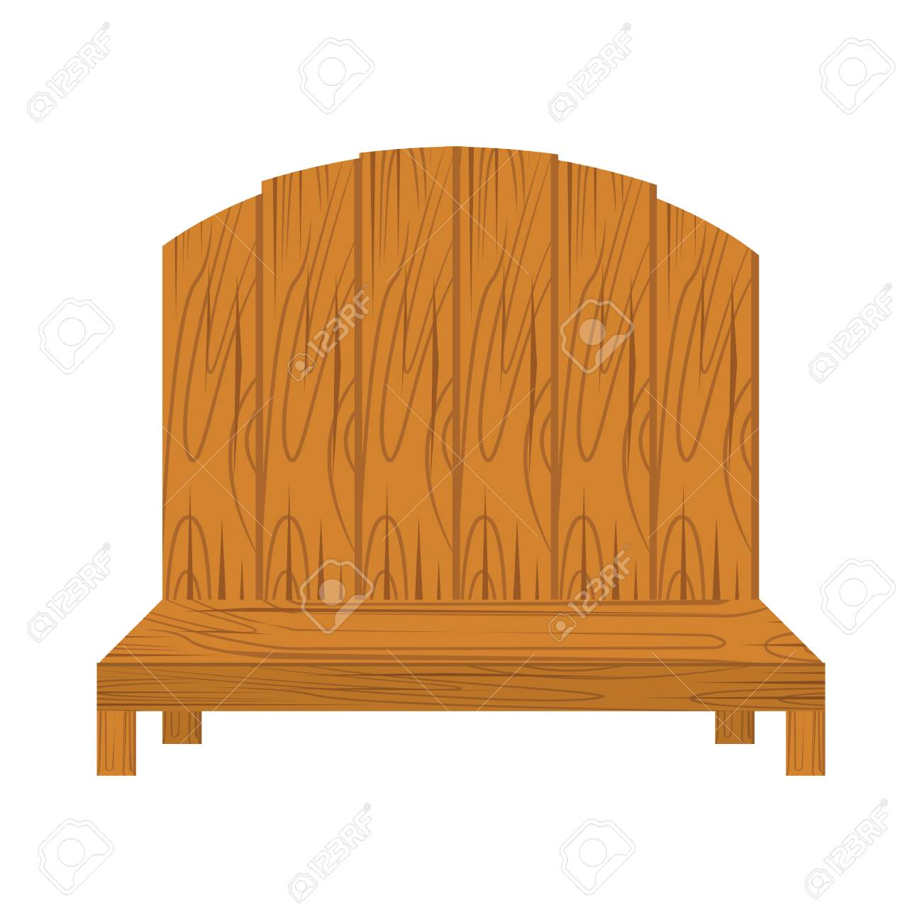 Remarkable Wooden Bench Isolated Illustration On White Background Caraccident5 Cool Chair Designs And Ideas Caraccident5Info