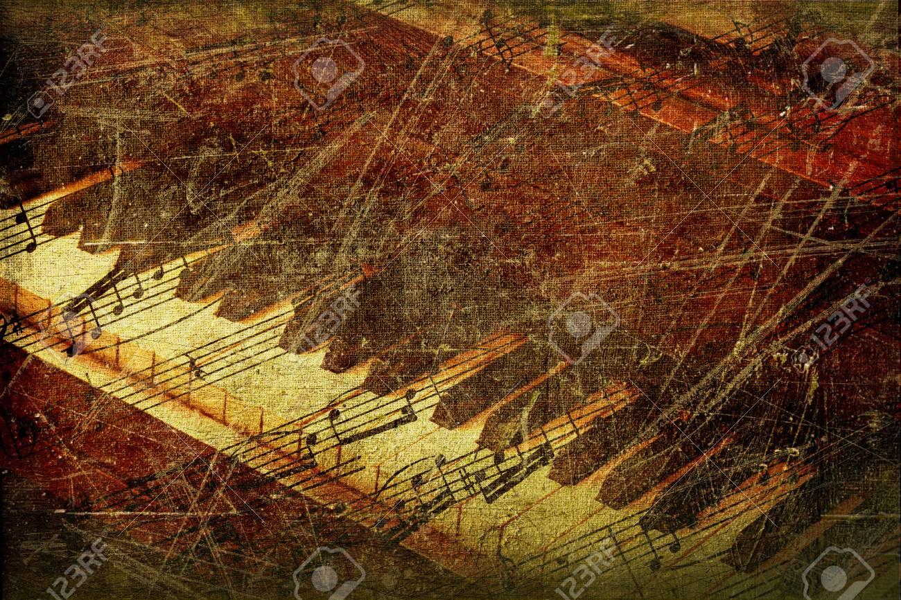Grunge musical background Stock Photo - 6937706