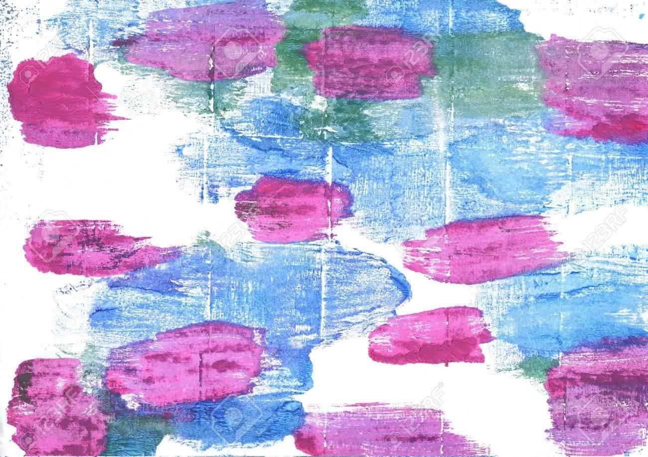 Aquarelle Abstraite Dessinés à La Main. Couleurs Utilisées: Blanc, Bleu  Jordy, Bleu