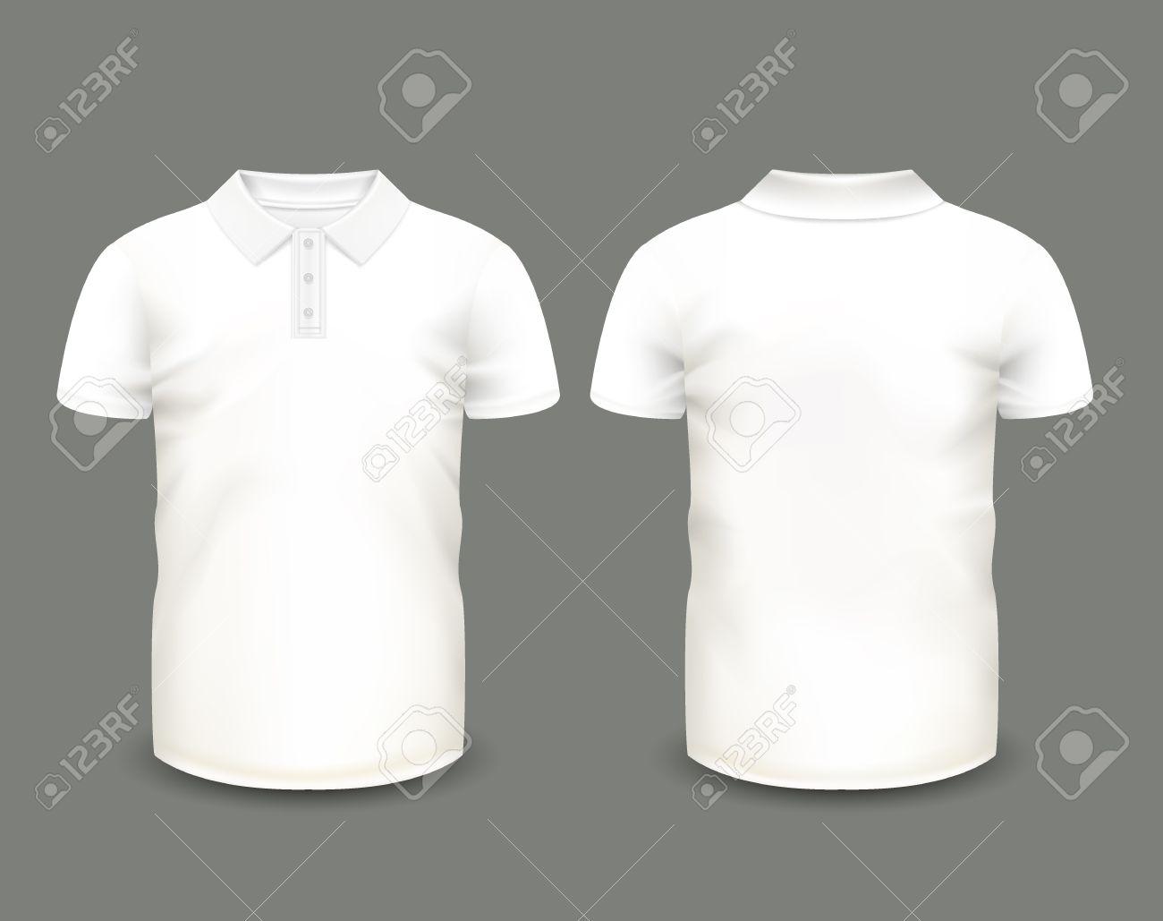 Dos Manches Blanc Homme De Pour Modèle Polo Et En Vue Courtes Face 5wwqvZ