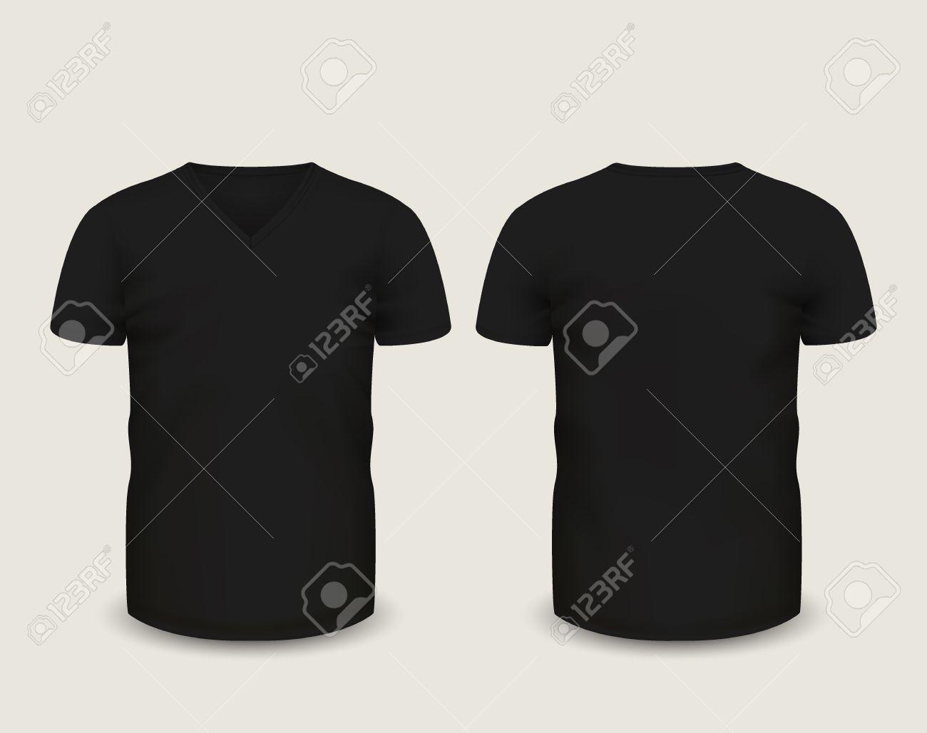 Illustration Black T-Shirt Mens