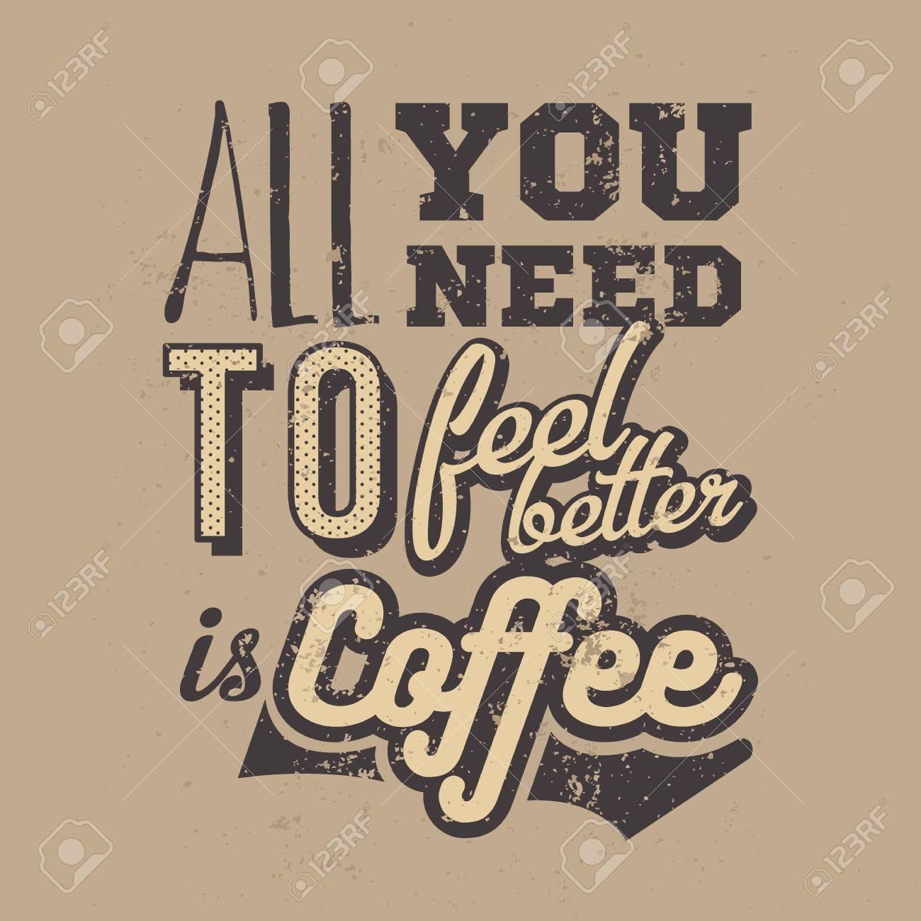 Admirable Affiche Avec Un Slogan De Café Dessiné à La Main. Illustration TR-85