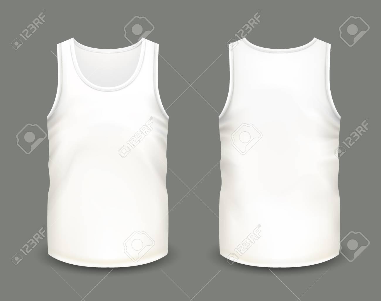 Camisa Vectorial Hecha Y A Blanca De En Frontal Plantilla Hombre Vistas Mangas Para Camiseta Masculina RealistaMalla Sin PosteriorIlustración Con kXOuTPZi