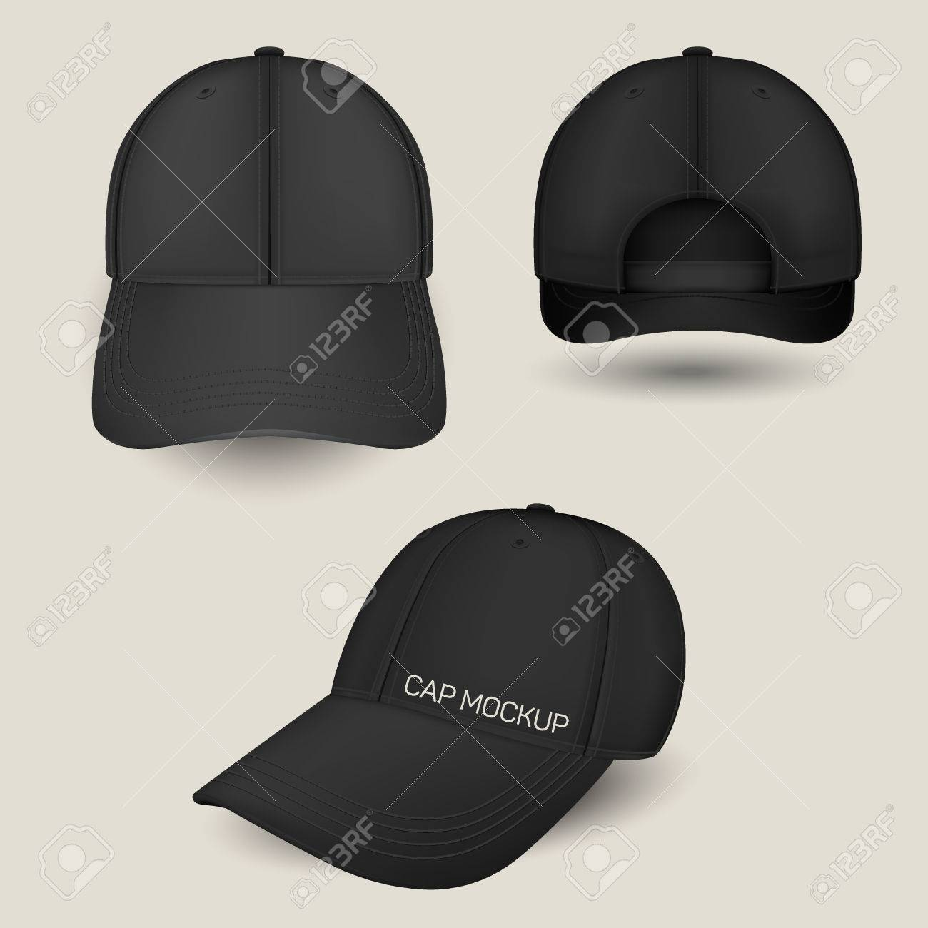 Black Caps Mockup In Front 4fa31c23b0b