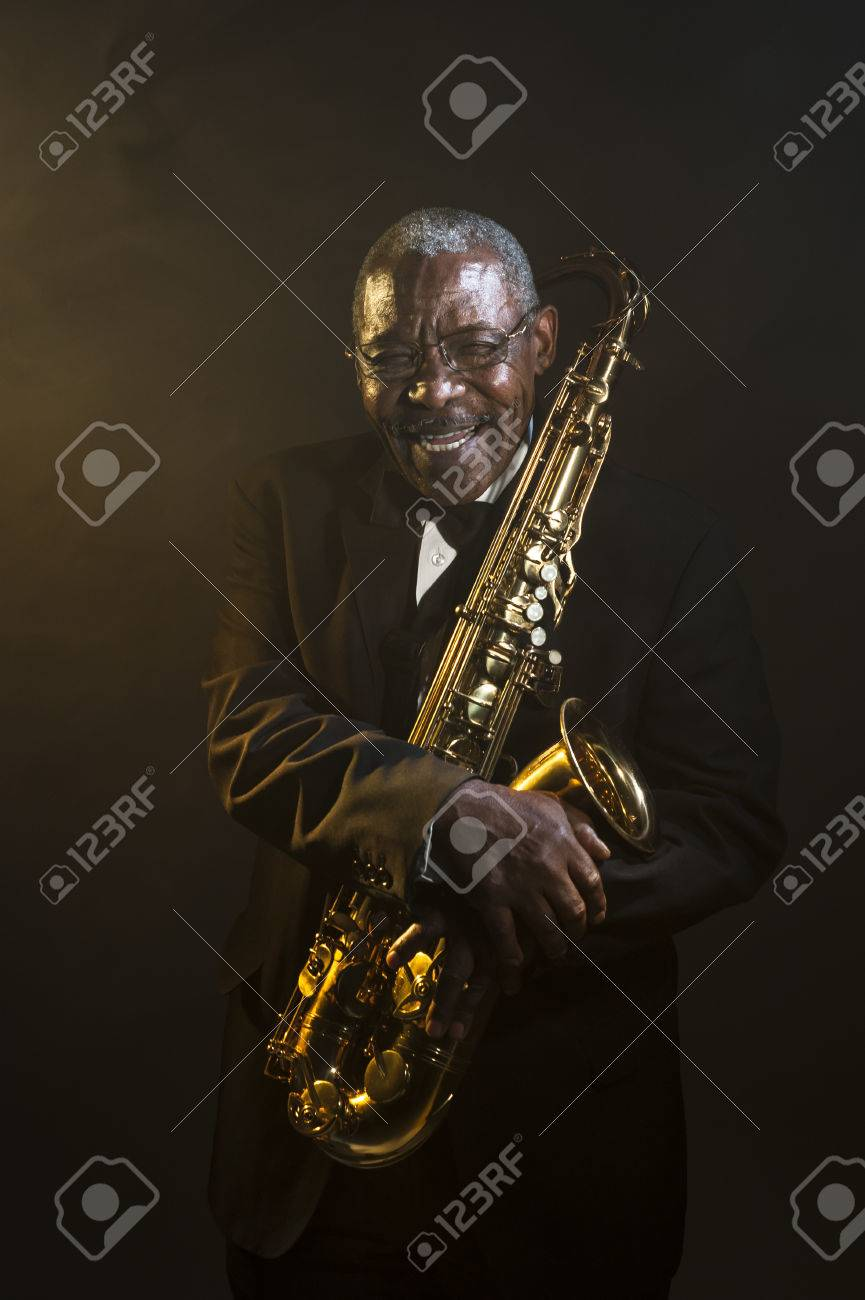 African American Saxophonist Sax Jazz Music