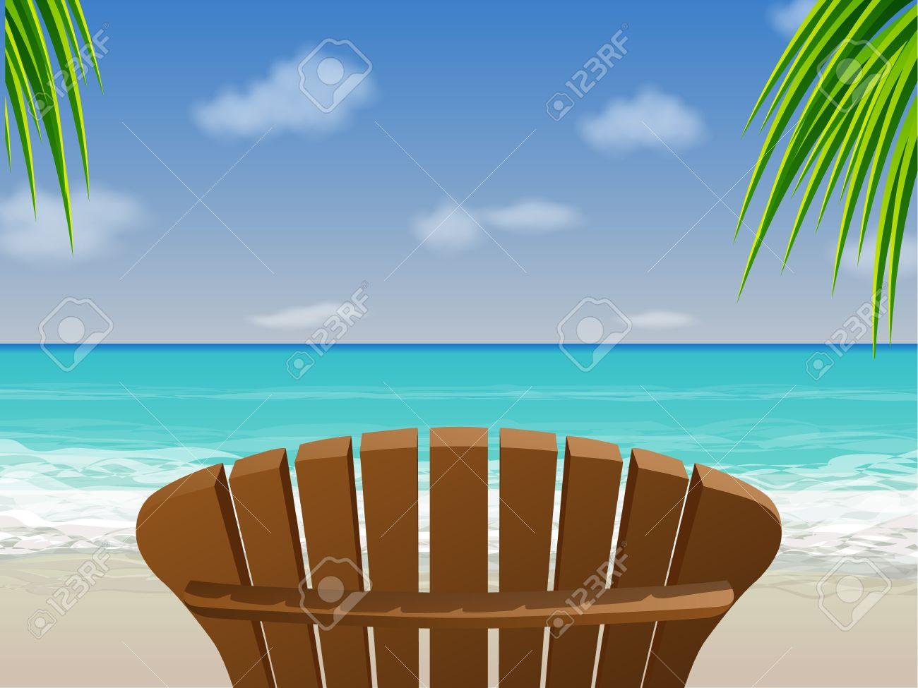 Adirondack chair beach - Beach Chair Adirondack Beach Chair Illustration