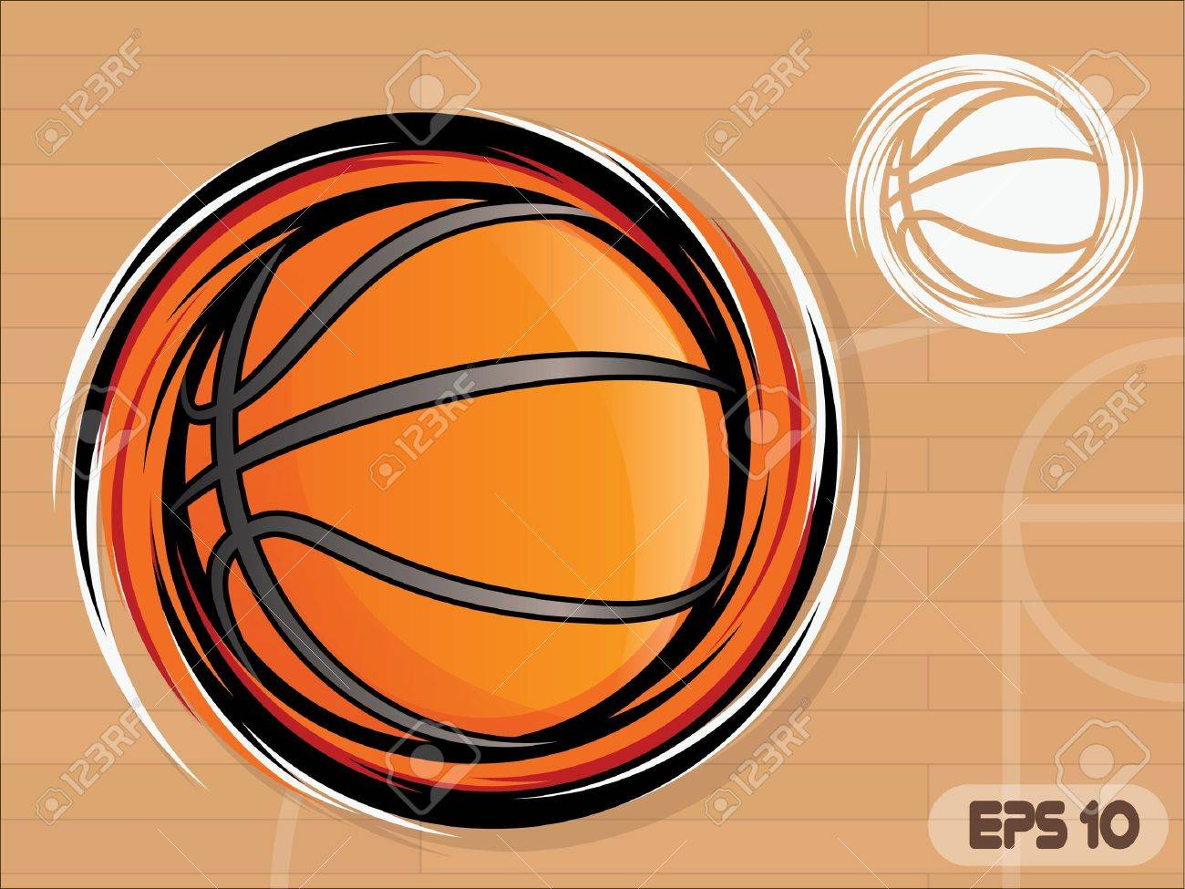 Spinning Basketball Icon/Basketball Team Mascot Stock Vector - 12821295