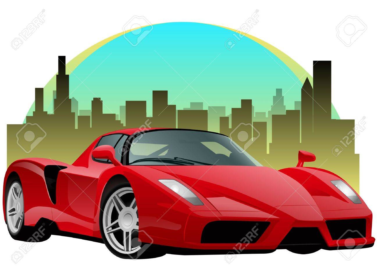 Exatic Red Sports Car Stock Vector - 14203366