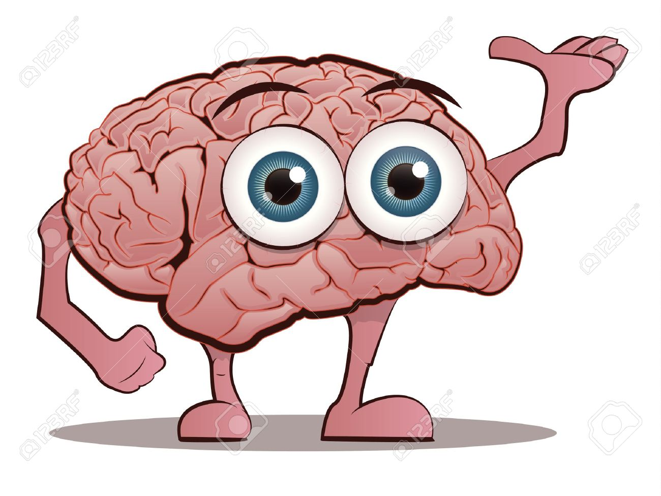Brain Character with Hands and Feet Stock Vector - 14585525