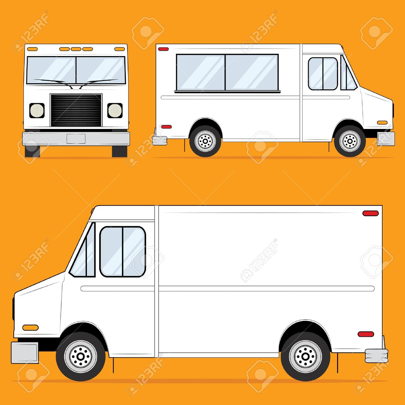 Food Truck Blank Stock Vector