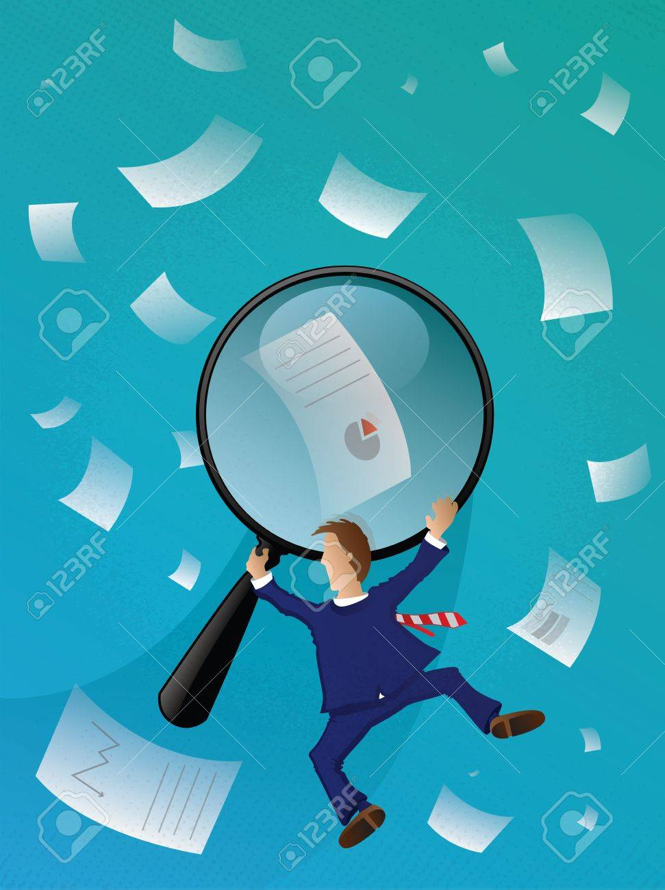 Business Man Searching Stock Vector - 14992812