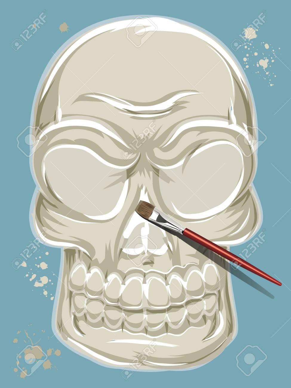 Painted Skull Stock Vector - 15463169