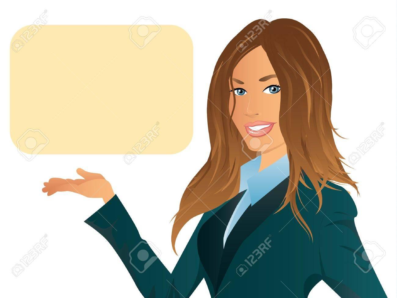 Business Woman Illustration Stock Vector - 15932683