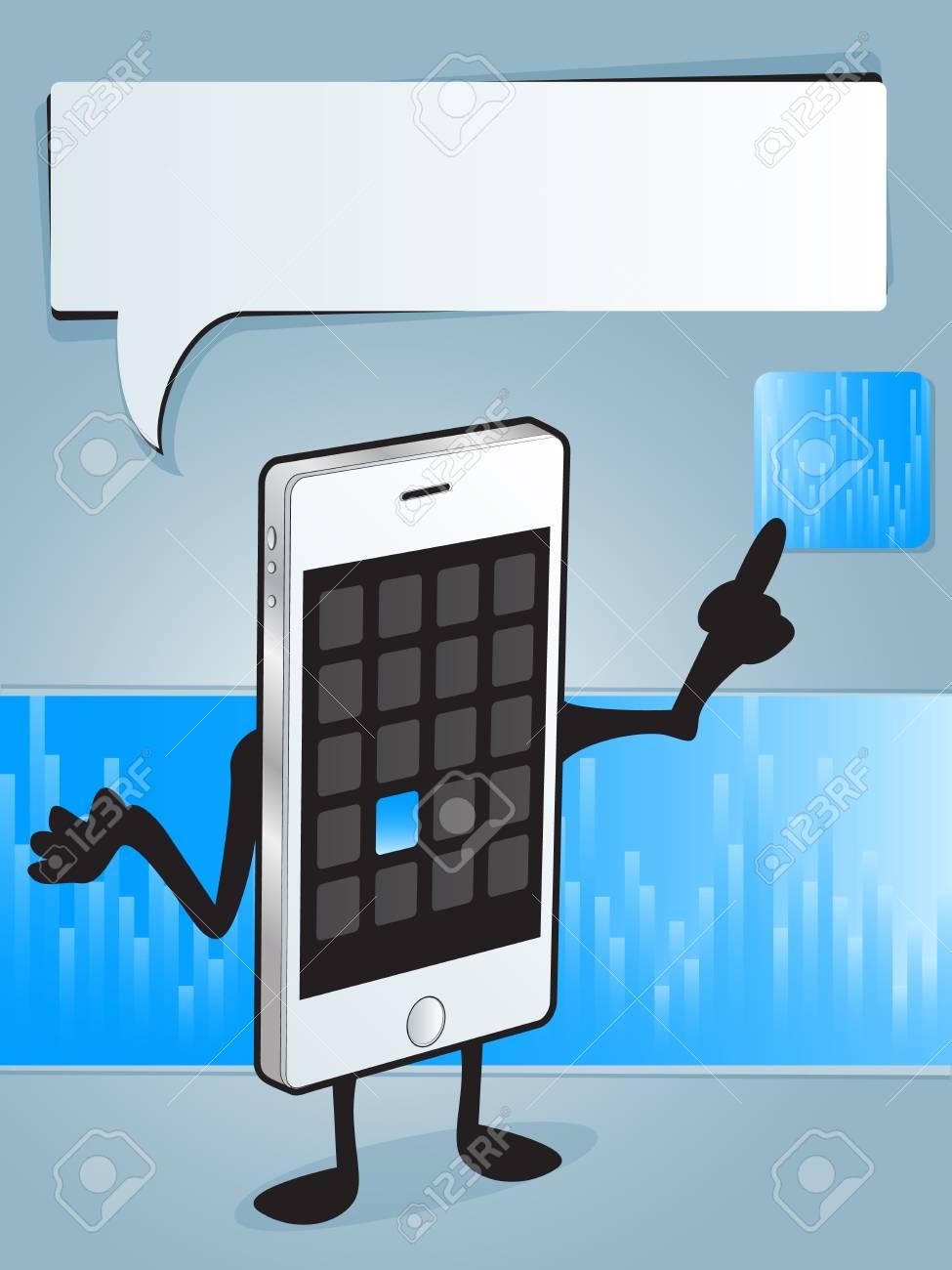 Smart Phone App Stock Vector - 16019141