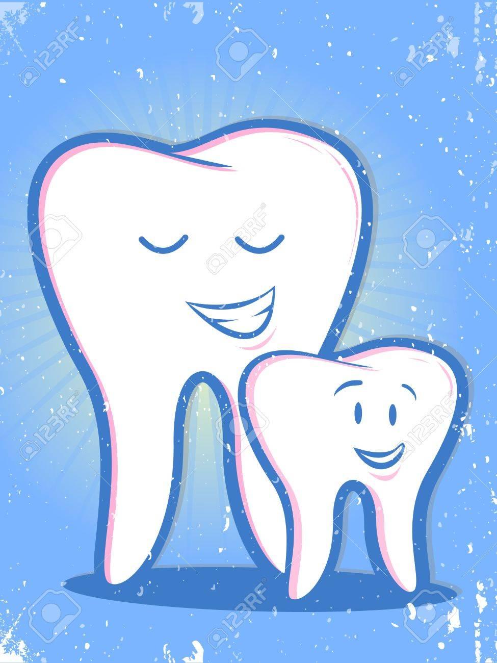 Retro Teeth Family Cartoon Royalty Free Cliparts, Vectors, And ...