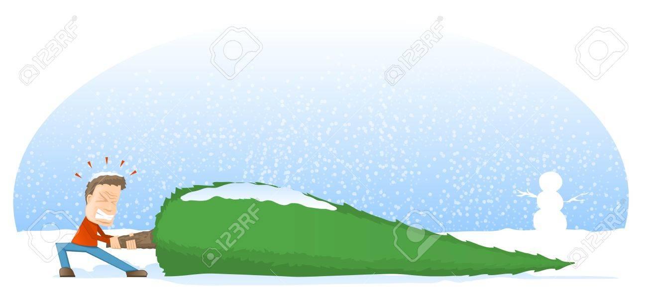Giant Christmas Tree Cartoon Stock Vector - 16627846